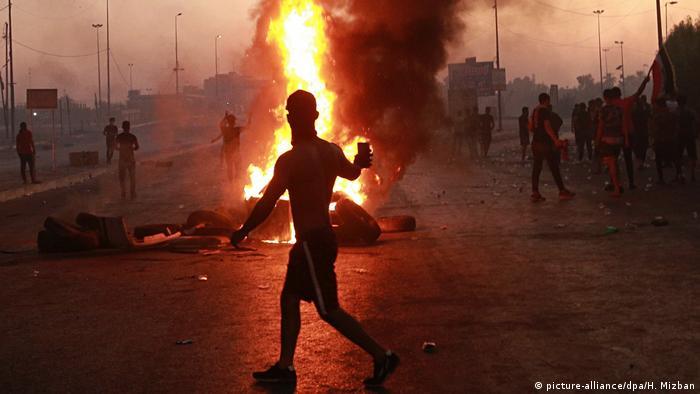 احتجاجات في بغداد على أداء حكومة عادل عبد المهدي في أكتوبر/ تشرين الأول 2019