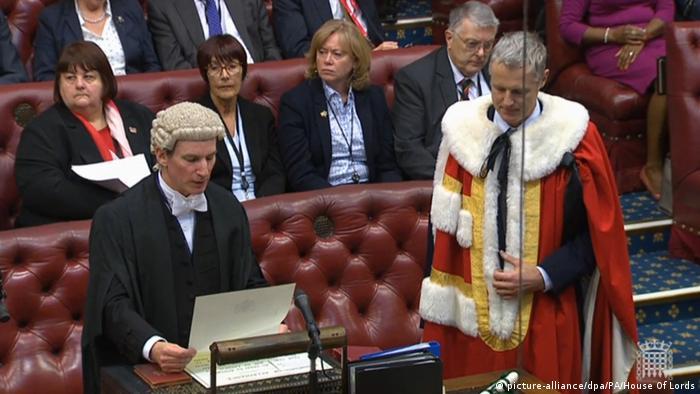 Brytyjska Izba Lordów - zaprzysiężenia ministra Zaka Goldsmitha