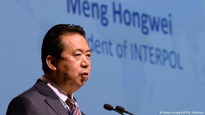 China Meng Hongwei Ex-Präsident von Interpol