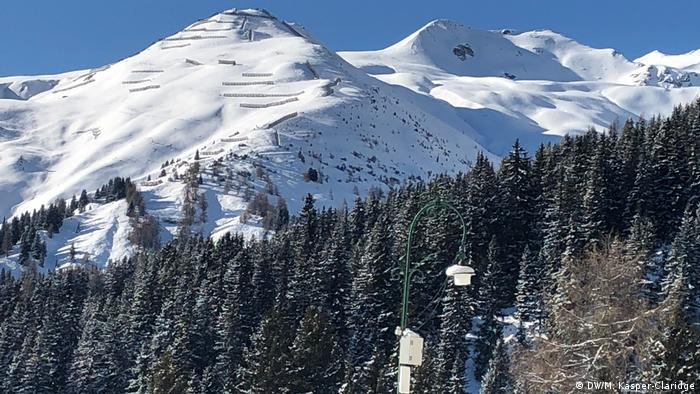 The mountains above Davos