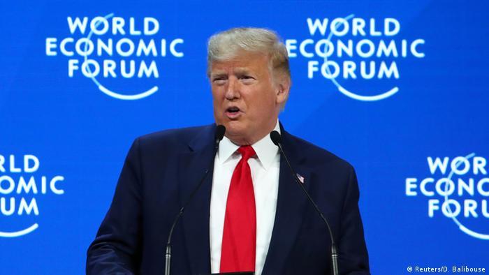 Donald Trump, presidente de EE. UU., en el Foro de Davos 2020.