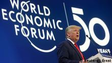 US President Donald Trump speaks at Davos (Reuters/J. Ernst)