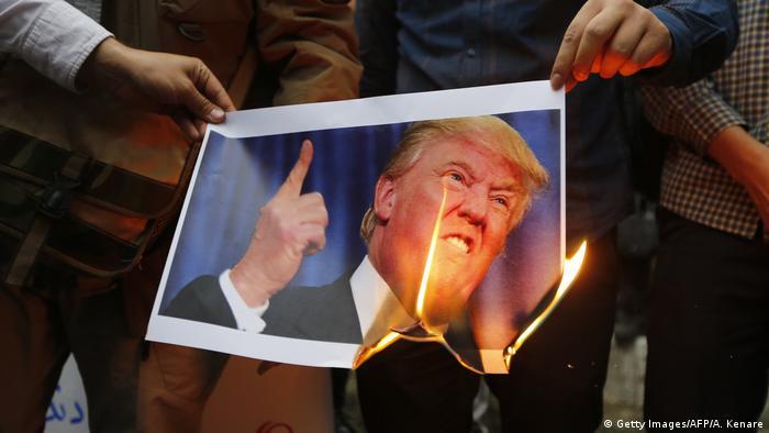 Iran memprotes Donald Trump