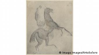 Constantin Guys' 'Lady on rising horse'
