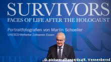 Ausstellung Survivors in Essen Rede Naftali Fürst, Holocaust-Überlebender