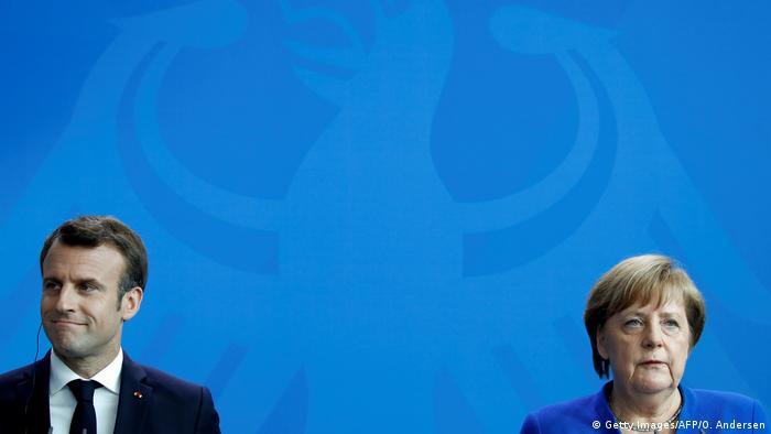 Berlin Pressekonferenz   Angela Merkel und Emmanuel Macron
