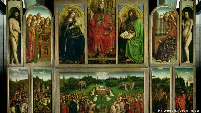 ORDER OF THE KNIGHTS OF CHRIST GHENT ALTARPIECE PAINTING ART REAL CANVAS PRINT