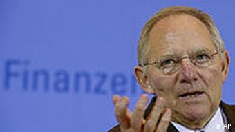 German Finance Minister Schauble
