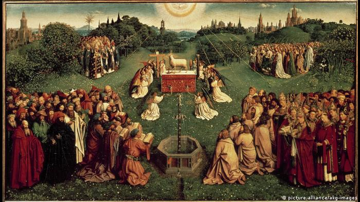 Adoration of the Mystic Lamb on Ghent Altarpiece (picture-alliance/akg-images)