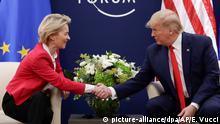 Schweiz Davos | Weltwirtschaftsforum: Ursula von der Leyen und Donald Trump
