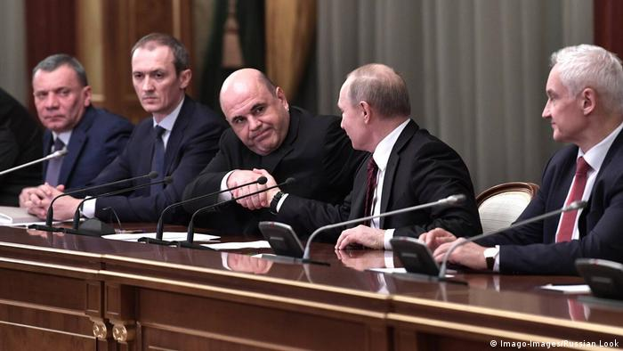 Russian Prime Minister Mikhail Mishustin and President Vladimir Putin (Imago-Images/Russian Look)