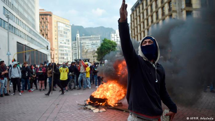 Protests against Duque in Colombia