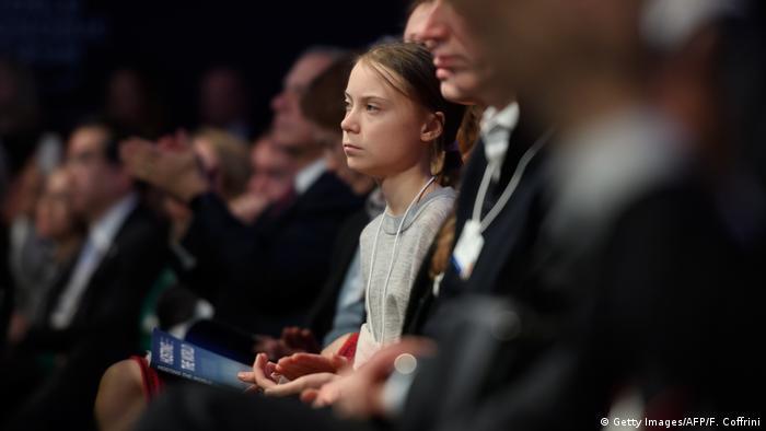 Greta Thunberg en Davos 2020.