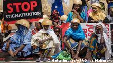Afrika | Burkina Faso | Menschen demonstrieren in den Straßen von Ouagadougo