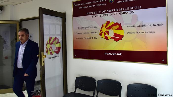 Nord-Mazedonien Wahlkommission | Oliver Derkoski, Präsident der Wahlkommission (DW/P. Stojanovski)
