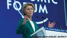 World Economic Forum 50th in Davos Ursula von der Leyen