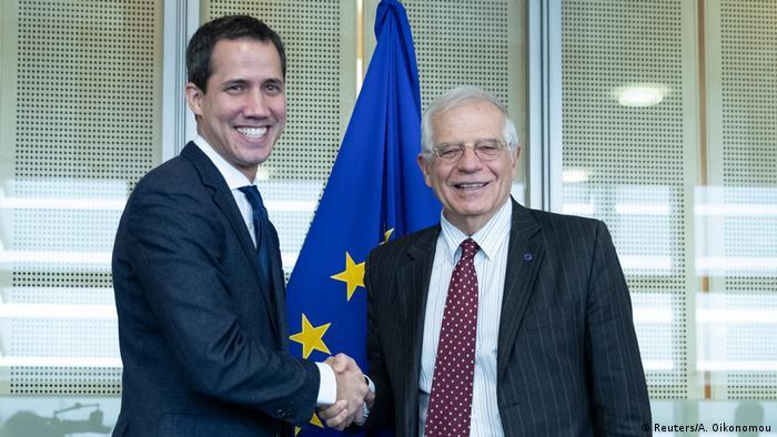 Belgien Juan Guaido trifft Josep Borrell in Brüssel