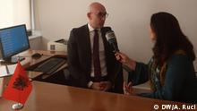 Albania Vice Foreign Minister, Sokol Dedja in interview with DW on accession negotiation. Ani Ruci, shot on January 2020