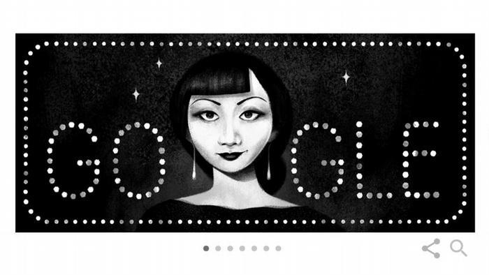 Screenshot Anna May Wong - Google Doodle