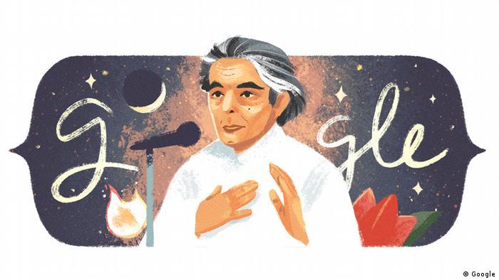 Google-Doodle mit Kaifi Azmi (Google)