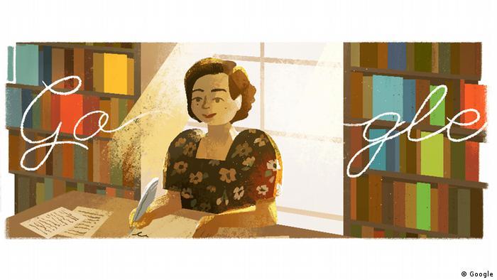 Genoveva Matute in einem Google-Doodle. (Google)