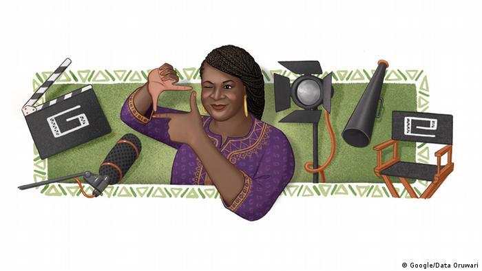 Google Doodle von Amaka Igwe. (Google/Data Oruwari)