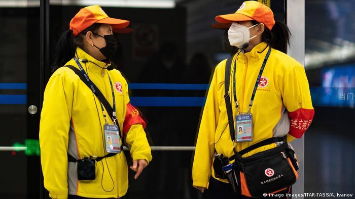Peking, Schutz gegen das Coronavirus durch Masken