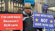 No Brexit Man Steve Bray London