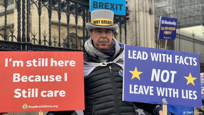Steve Bray, en contra del brexit.