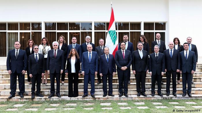 Libanon Gruppenbild Präsident und neues Kabinett