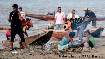 Foto de migrantes venezolanos.
