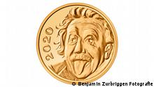 Pressebild Swissmint | Smallest gold coin in the world | Albert Einstein (Benjamin Zurbriggen Fotografie)