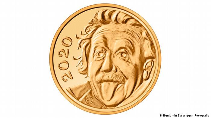 Switzerland puts Einstein on world's smallest gold coin