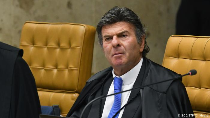 O presidente do STF (Supremo Tribunal Federal), Luiz Fux: apoio à decisão de Moraes