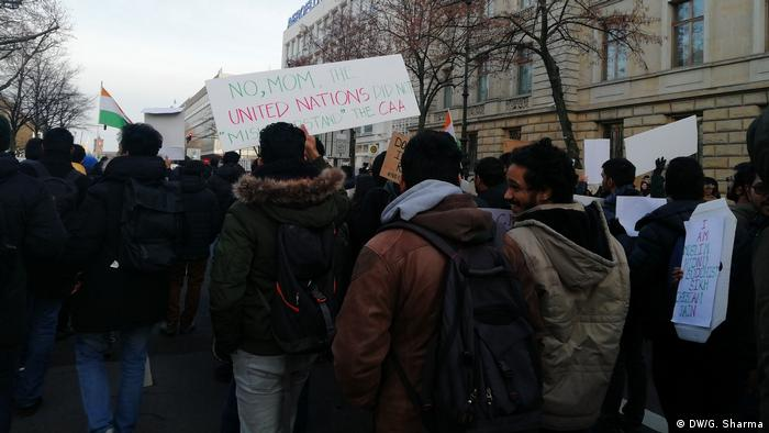 A group of Indian protesters in Berlin