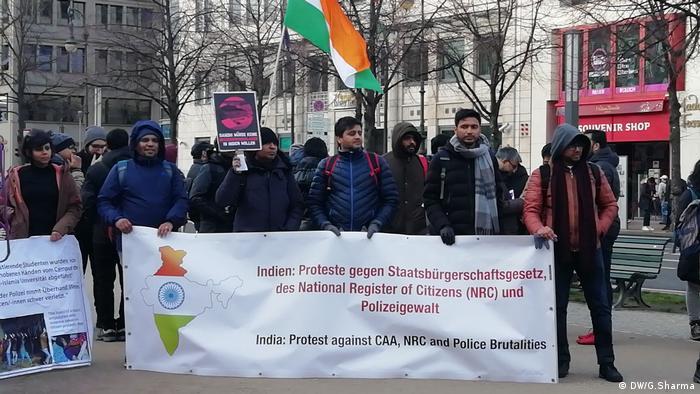 Indische Diaspora proteste in Deutschland