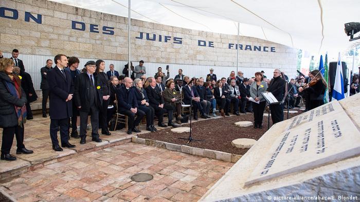 Israel Jerusalem | 75. Jahrestag Befreiung von Auschwitz | (picture-alliance/abaca/E. Blondet)