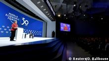 German Chancellor Angela Merkel delivers a special address at the 50th World Economic Forum (WEF) annual meeting in Davos, Switzerland, January 23, 2020. REUTERS/Denis Balibouse