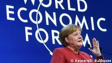 Weltwirtschaftsforum 2020 in Davos | Angela Merkel, Bundeskanzlerin