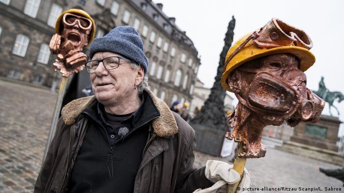 Seniman Denmark Jens Galschiot di Kopenhagen