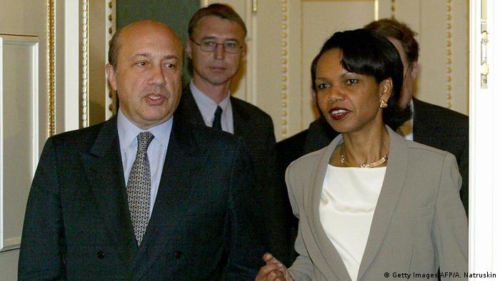 Игорь Иванов и занимавшая в то время пост госсекретаря США Кондолиза Райс на встрече в Москве в 2004 году