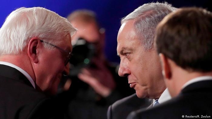 نتنياهو مع الرئيس الالماني شتاينماير في القدس.