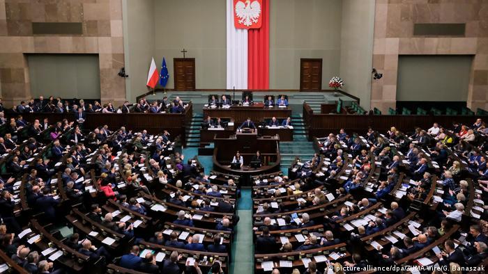Polen Parlamentssitzung Gesetz zur Richter-Disziplinierung