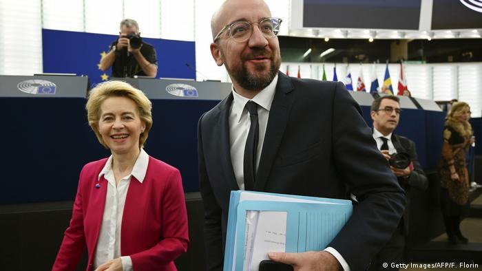 Урсула фон дер Ляєн та Шарль Мішель у Європарламенті