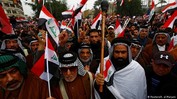 Protestas contra EE. UU. en Bagdad.