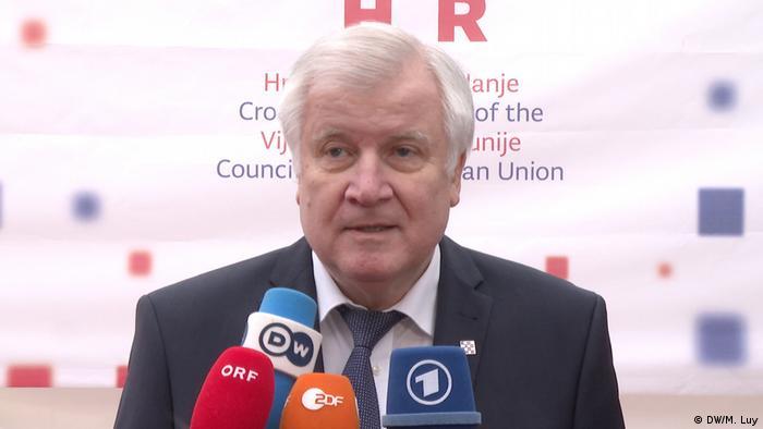 Horst Seehofer in Zagreb anläßlich des Treffens der EU-Innenminister