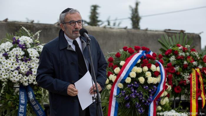 Ognjen Kraus tokom komemoracije za žrtve Holokausta