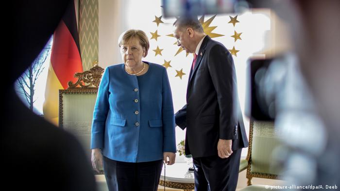 German Chancellor Angela Merkel meets with Turkish President Recep Tayyip Erdogan