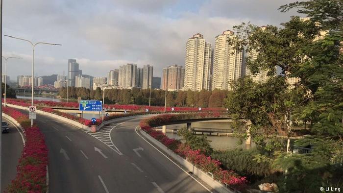 Empty streets in Wuhan (Li Ling)