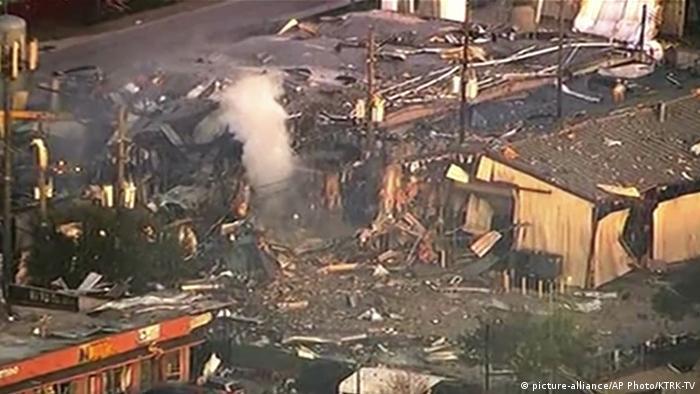 Explosión en Houston, Texas, EE. UU. (24.01.2020).